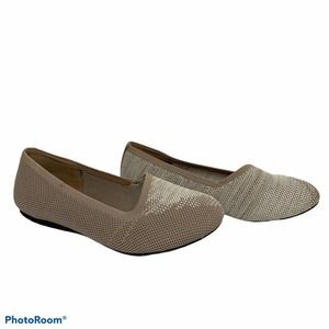 Softwalk Sicily Fabric Ballet Flats Taupe Size 6
